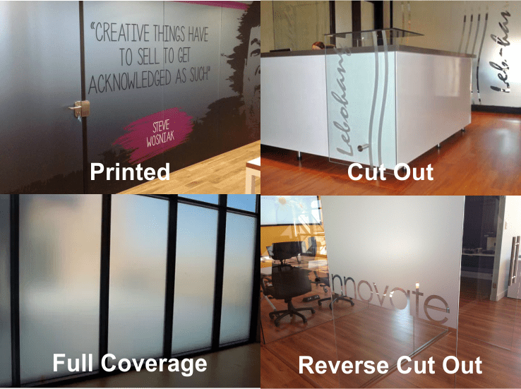 Sandblast or Frosted Vinyl Image